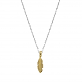 Silver & Gold Mini Feather Necklace