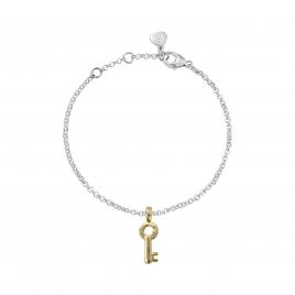 Silver & Gold Mini Dreamer's Key Chain Bracelet