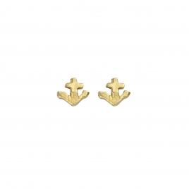 Gold Tiny Anchor Ear Charm Set