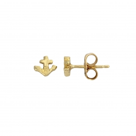 Gold Tiny Anchor Ear Charm Set detailed
