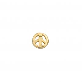 Gold Tiny Peace Single Ear Charm