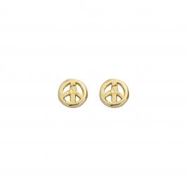 Gold Tiny Peace Ear Charm Set