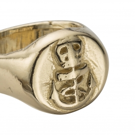 Gold Nautical Ring detailed