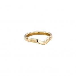 Gold Ladies Wave Wedding Band