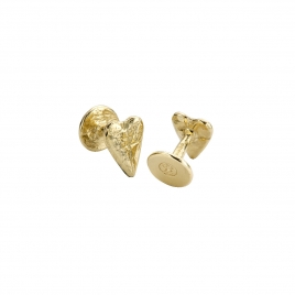Gold Heart Cufflinks