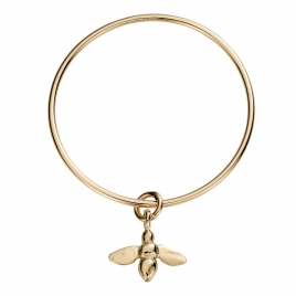 Gold Large Honey Bee Bangle