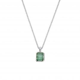 KAMAKOU Silver Emerald Necklace