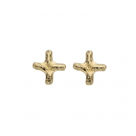 Gold Mini Kiss Stud Earrings