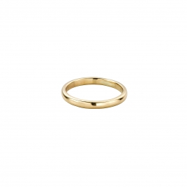 Gold Ladies Arch Wedding Band