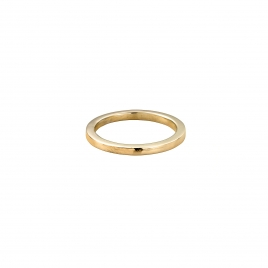 Gold Ladies Square Wedding Band