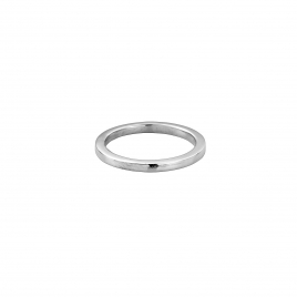 Silver Ladies Square Wedding Band