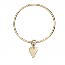 Gold Maxi Heart Bangle