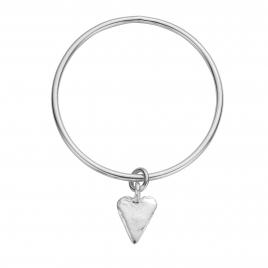 Silver Maxi Heart Bangle
