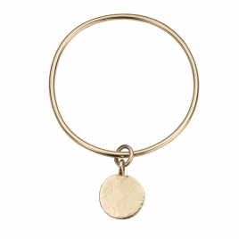 Gold Large Moon Bangle