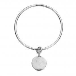 Silver Large Moon Bangle