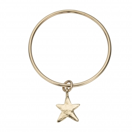 Gold Maxi Star Bangle