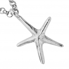 Silver Maxi Starfish Necklace detailed