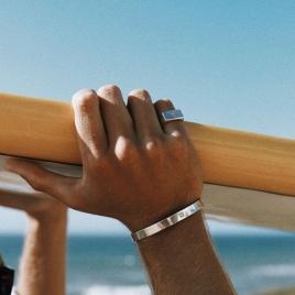 Men's Feature Hallmark Bangle detailed