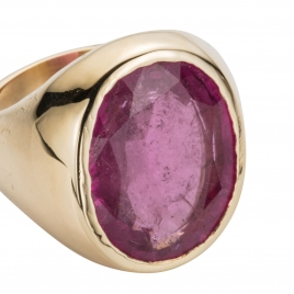 METIS Tourmaline Gold Ring detailed