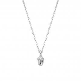 Silver Medium Bowness Acorn Necklace