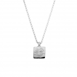 Silver Medium Cancer Horoscope Necklace