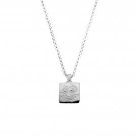 Silver Medium Cancer Horoscope Necklace