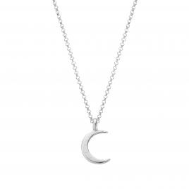 Silver Medium Crescent Moon Necklace