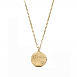 Personalised Gold Midnight Moon Necklace