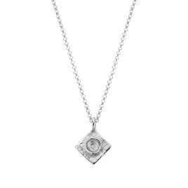 Silver Medium Graduation Cap Necklace