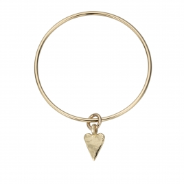 Gold Medium Heart Bangle