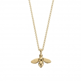 Gold Large Honey Bee Necklace