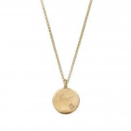 Gold Diamond Midnight Moon Necklace