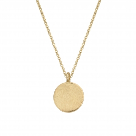 Gold Large Moon Necklace