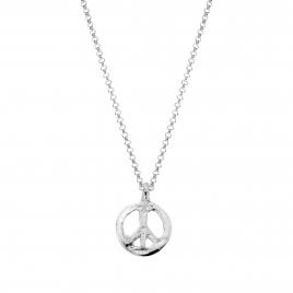 Silver Medium Peace Necklace