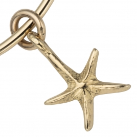Gold Medium Starfish Bangle detailed
