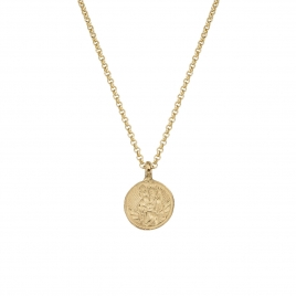 Gold Medium St Christopher Necklace