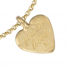 Gold Medium You Are Loved Chain Bracelet detailed