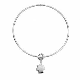 Silver Mini Angel Stack Bangle