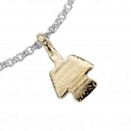 Silver & Gold Mini Angel Chain Bracelet detailed