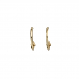 Gold Mini Cupid Hoop Earrings
