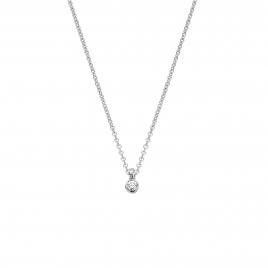 Silver Mini Diamond Necklace