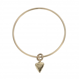 Gold Mini Heart Bangle
