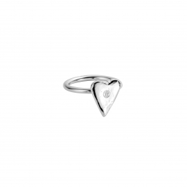 Silver Love Struck Mini Heart Ring
