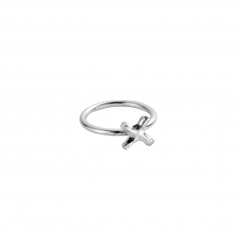 Silver Love Struck Mini Kiss Ring