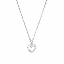 Silver Mini Open Heart Necklace