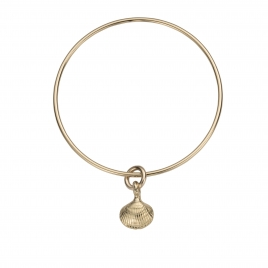 Gold Mini Shell Bangle