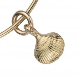 Gold Mini Shell Bangle detailed