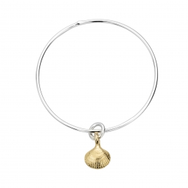 Silver & Gold Mini Shell Bangle