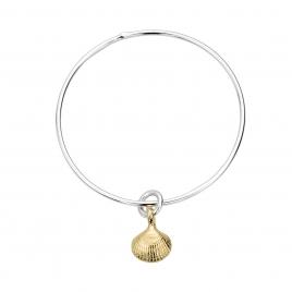 Silver & Gold Mini Shell Bangle