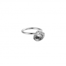 Silver Love Struck Mini Shell Ring